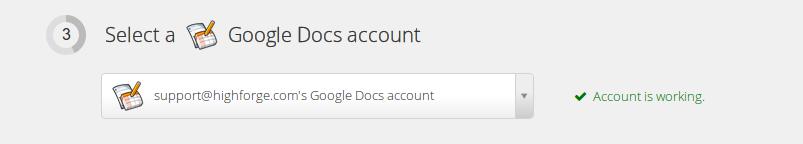 Screenshot of a successful Google account link
